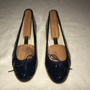 Anniel navy patent leather ballet flat